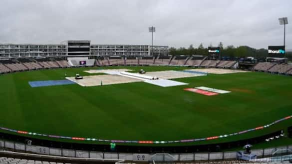 wtc final 2021, first day of test match between India vs New Zealand washed out due to rain spb