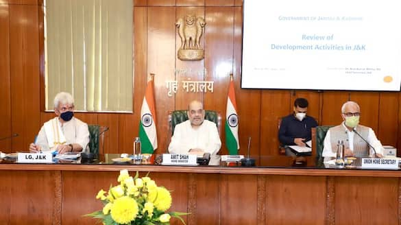 Amit Shah chairs meet on J&K with NSA heads of R&AW IB and CRPF bmm