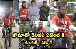 Hyderabadis Raise funds and gift a bike to a Zomato delivery guy who used a bicycle