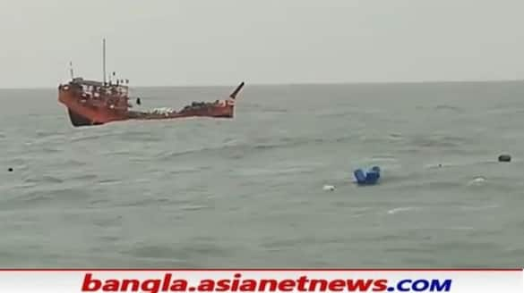 Fishing trawler overturned in the Bay of Bengal RTB