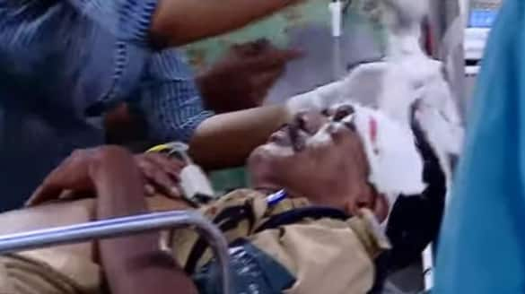 Police Sub inspector sustains hack injuries when trying to nab accused Kottayam