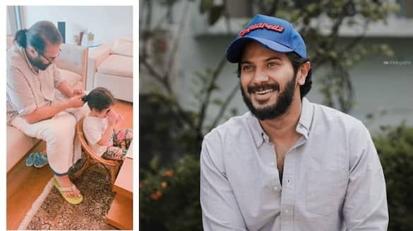 mammootty and his grand daughter dulquer shares adorable pic