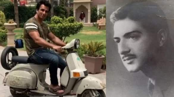 real hero sonu sood on father scooter shared emotional post and father pic  arj