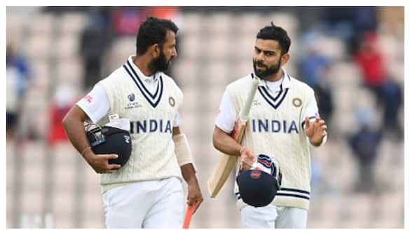 IND 64/2 at stumps, Kohli, Pujara extend lead to 32 at end of day 5 of wtc final 2021 spb