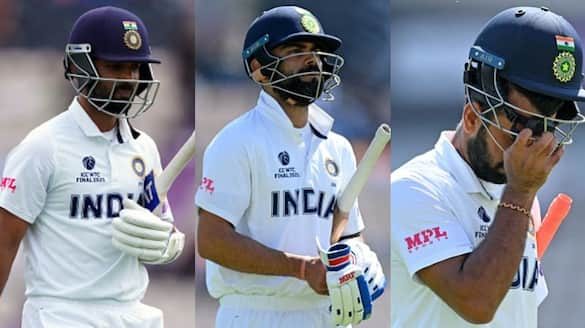 Kohli , Pujara, Rahane out before lunch, team India under pressure in reserve day of wtc final 2021 spb