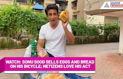 Watch: Sonu Sood sells eggs and bread on his bicycle; netizens love his act