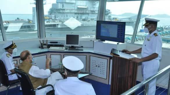 Rajnath Singh reviews Project of Karwar naval base in Karnataka pwa