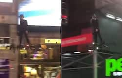 <p>Man flies hoverboard at New York's Times Square, leaves netizens amazed</p>