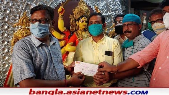 Durga idol  has been ordered  by Santosh Mitra Square  Pujo committee   in Kumartuli RTB