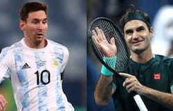 <p>Federer and Messi</p>