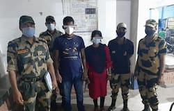 <p>BSF arrest newly married</p>