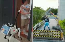 <p>Viral video: Harsh Goenka shares video montage of robots enforcing COVID appropriate behaviour</p>