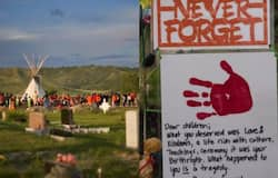 <p>unmarked graves found near Canada residential school</p>