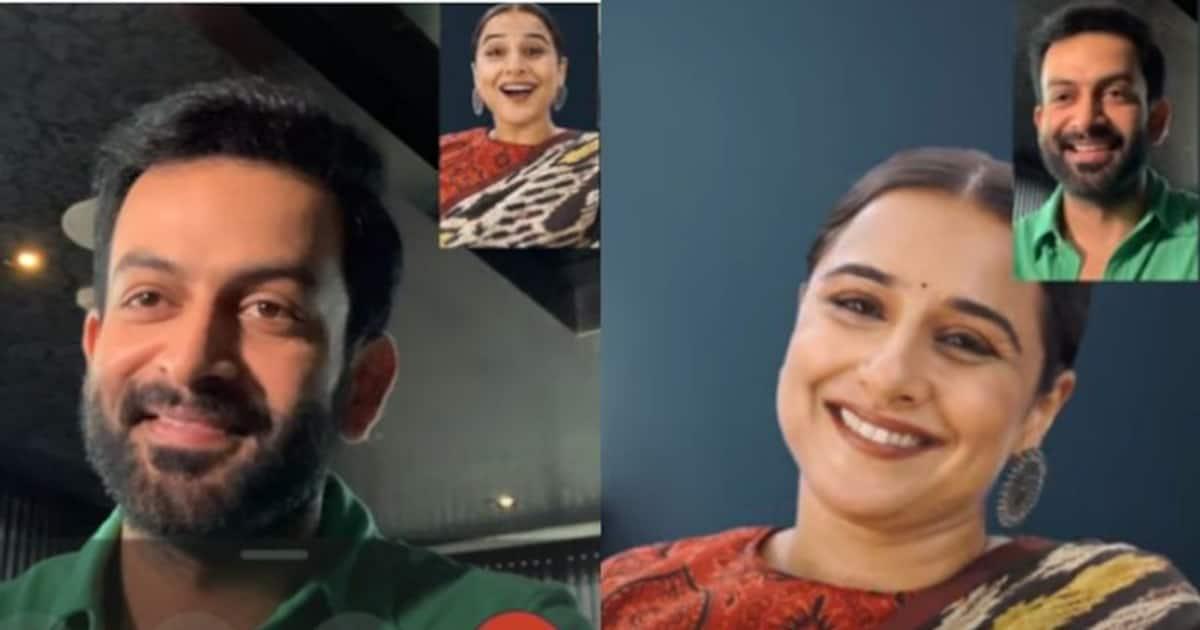 Vidya Balan makes a video call to Prithviraj, 'Can't Shorni direct in Malayalam?'