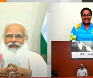 PM Modi interaction with Indian athletes who are participating in Tokyo olympic DHA