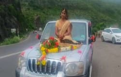 <p>bride on bonnet, bride video, pune bride video, Maharashtra video, maharashtra news, pune news, bride video viral, बोनट पर बैठी दुल्हन, दुल्हन का वीडियो</p>