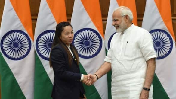 The Prime Minister congratulated Chanu on winning silver at the Tokyo Olympics
