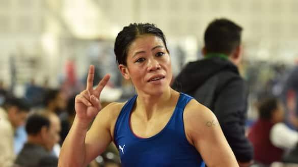 Mary Kom defeats Miguelina Hernandez Garcia in the opening round of women's flyweight pwa