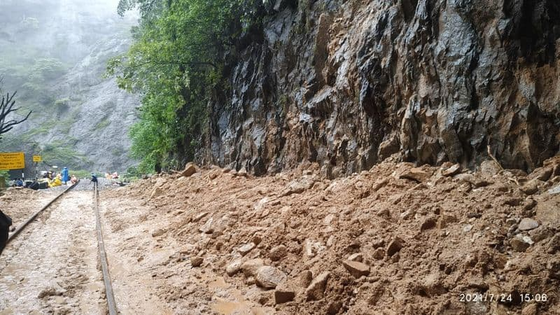 Track Cleared and Rubble Removed Near Dudhsagar grg