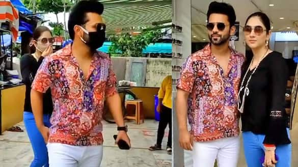 Rahul Vaidya Disha Parmar spotted for 1st time at shopping after marriage KPG