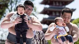 Sumo Wrestlers Make Babies Cry Naki Sumo Baby Crying Contest