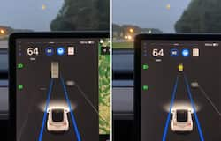 Watch: Tesla car's autopilot mode gets confused by seeing the moon and compares it to yellow traffic light