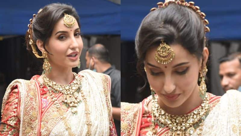 nora fatehi glamorous look in Indian ethnic wear fans go crazy at actress pictures KPJ