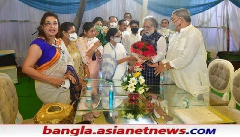 CM Mamata Banerjee doing meeting with TMC MPS at Delhi RTB