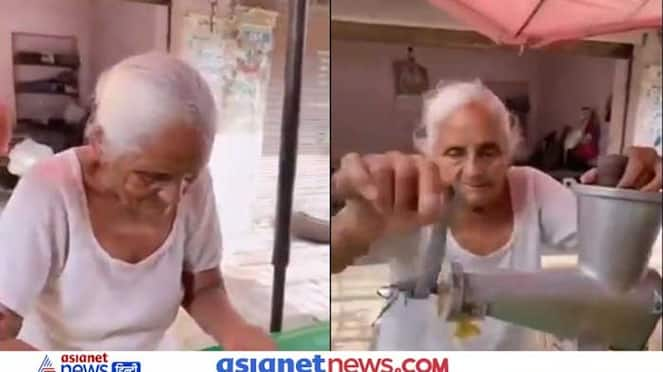 Video of 80 year old woman selling juice going viral on social media KPZ