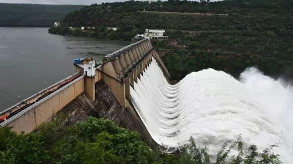 srisailam dam gates open ksp