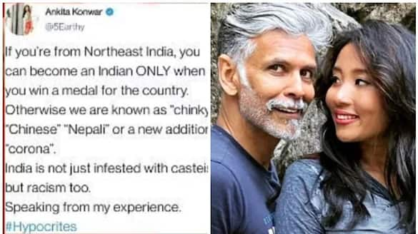 """Northeast people only become Indian when they win medal"""": Milind Soman's wife slams fans for hypocrisy"""