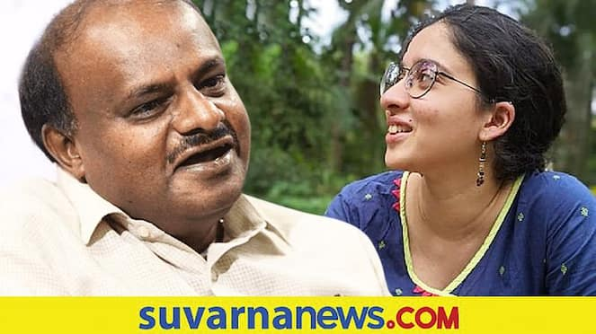 HD Kumaraswamy Thanks to Vijeta Ananth Kumar For Her Tweet on JDS mah