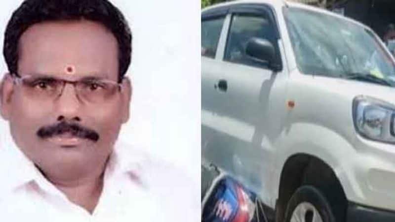 Former AIADMK MLA car accident..Female police injured