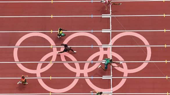Tokyo 2020 Mens 400m hurdles round 1 MP Jabir finished at last