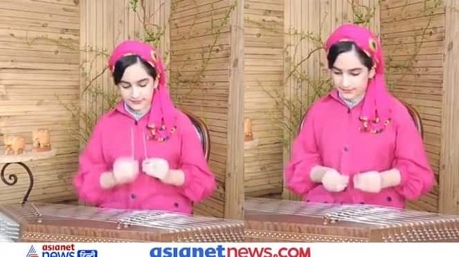 Viral video of Indian National anthem being played on Iranian Santoor by an Iranian instrumentalist artist KPZ