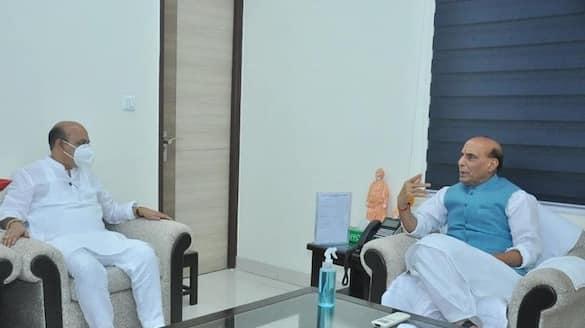 Basavaraj Bommais maiden Delhi visit as CM, meets Defence Minister Rajnath Singh-ycb