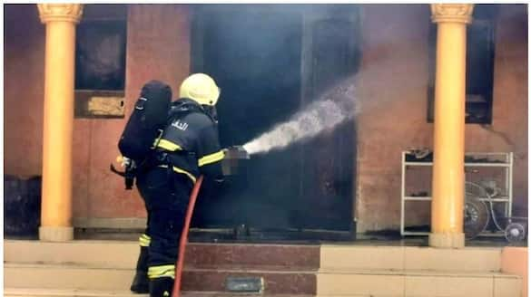 Oman civil defense reported house fire and no injuries