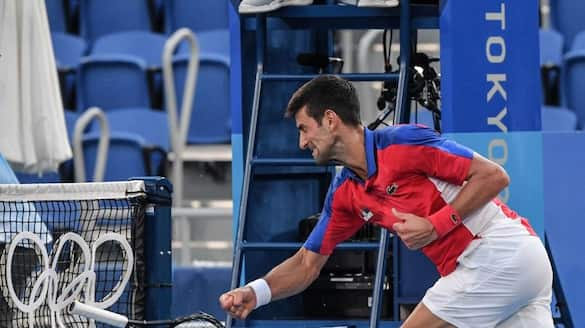 Tokyo Olympics: Novak Djokovic smashes his racquet in frustration during the tennis bronze medal match