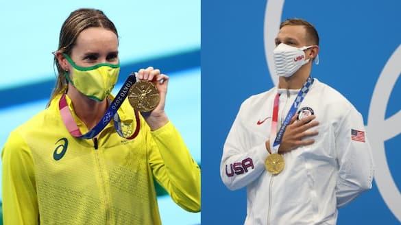 Tokyo Olympics 2020 Emma McKeon Caeleb Dressel fastest in Swimming