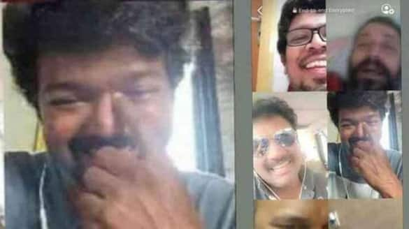 Actor Vijay talking on video call with friends photo viral in friendship day