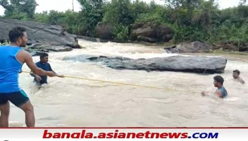 Police recovered  Indranath Mahatos body floating in Purulia river after 3 days on Monday RTB
