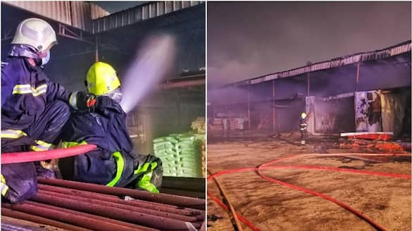 warehouse in oman catches fire