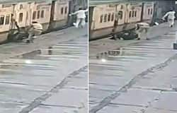 RPF personnel saves woman from falling under moving train, video goes viral