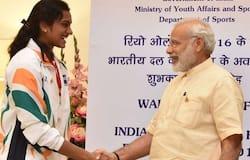 Narendra Modi and PV Sindhu