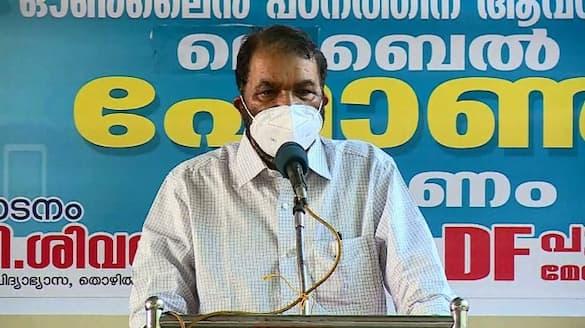 Minister V Sivankutty against opposition protest for resignation