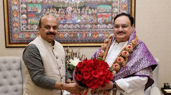 CM basavaraj Bommai Reacts after JP Nadda Met for Cabinet expansion rbj