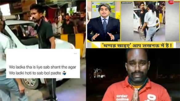 Viral video of the girls how beats the cab driver, campaign on twitter against lucknow girl
