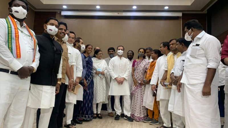 Is Tamil Nadu Congress changing history? Rahul Gandhi looks at BJP's Annamalai ..?