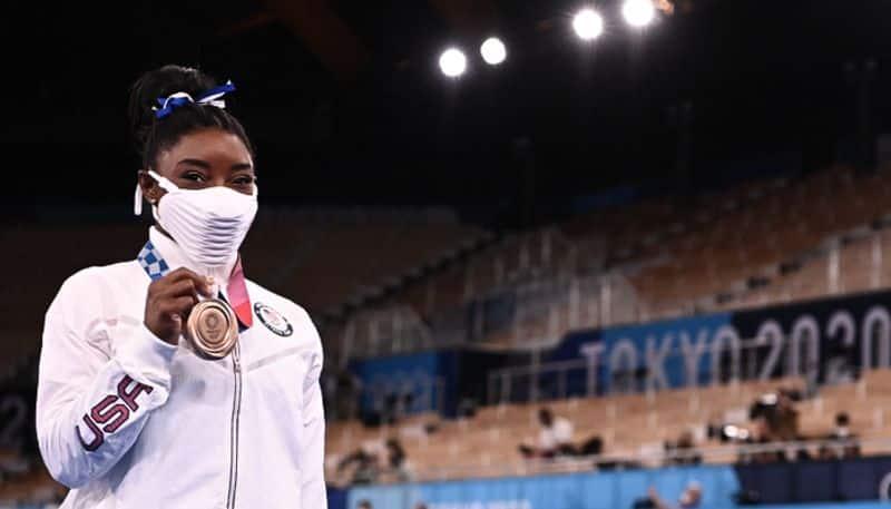Tokyo 2020 US Gymnast Simone Biles Takes Beam Bronze