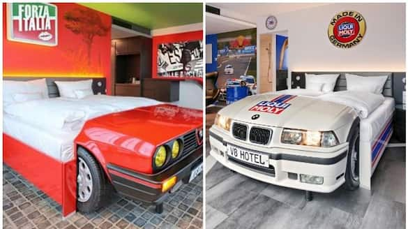 V8 Hotel In Germany With Car Themed Beds